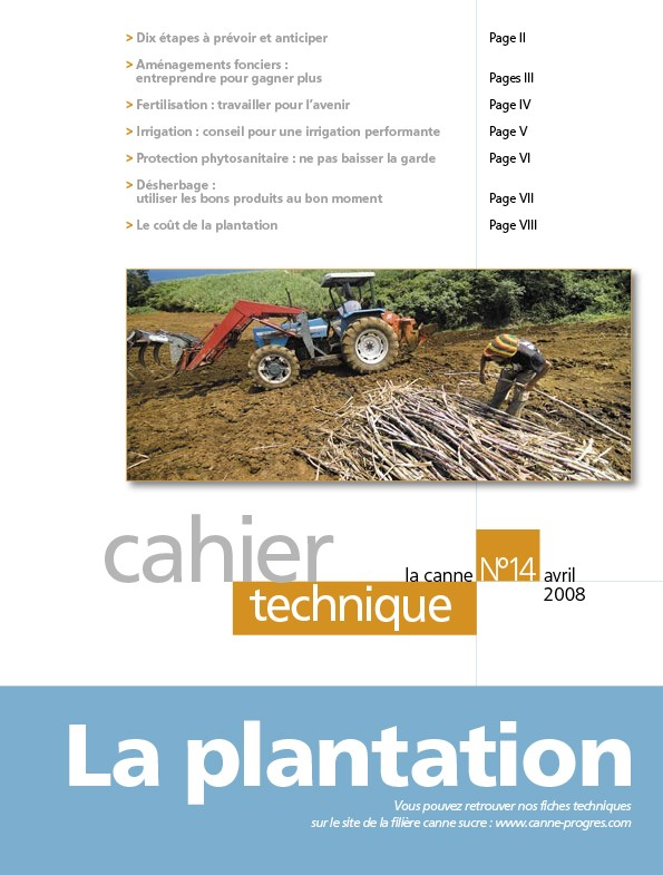 Cahier technique N°14 : la plantation