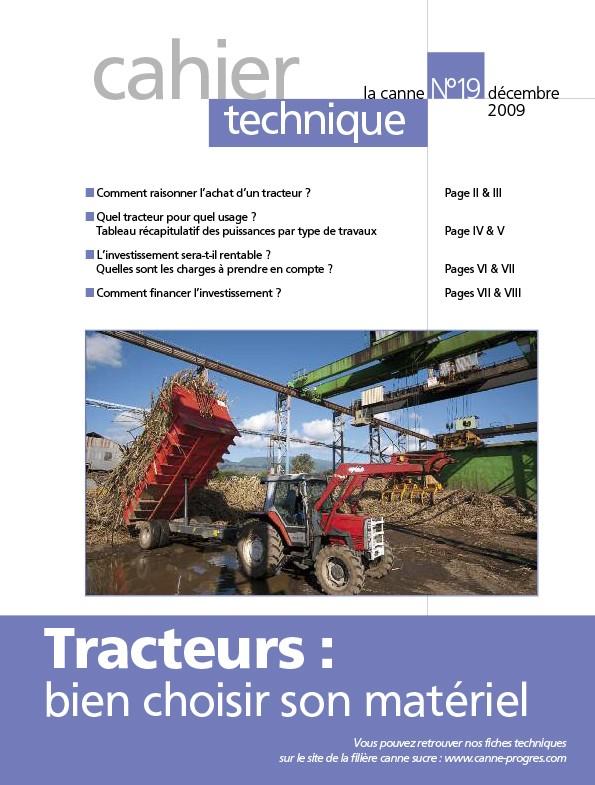 Cahier technique N°19 : Tracteurs, bien choisir son matériel