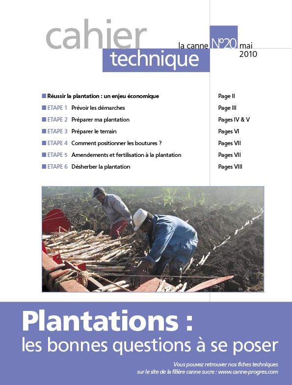 Cahier technique N°20 : Plantations, les bonnes questions à se poser