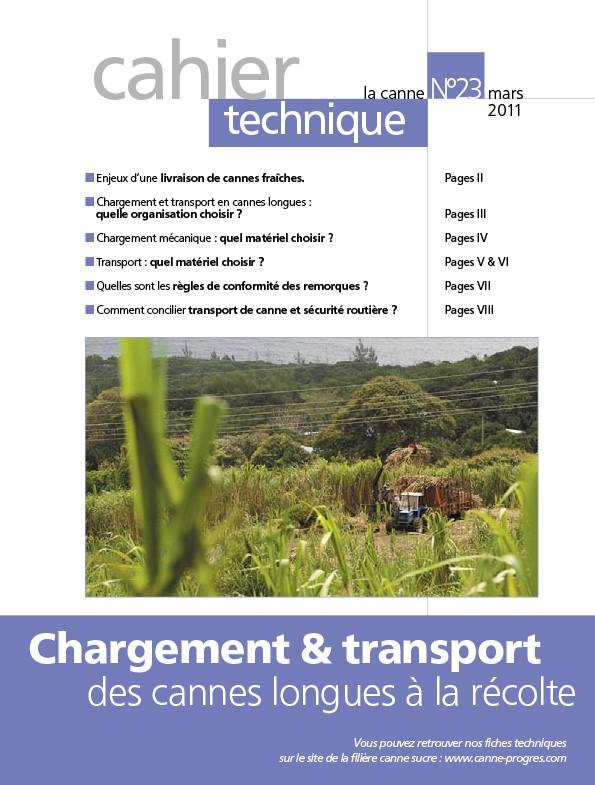 Cahier technique N°23 : Chargement & transport des cannes longues à la récolte