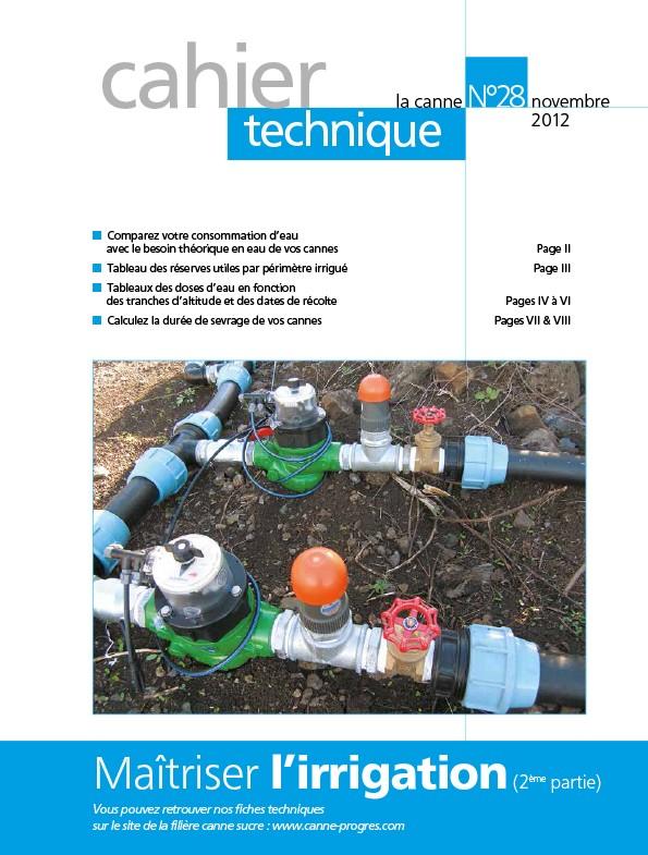 Cahier technique N°28 : Maîtriser l'irrigation (2e partie)