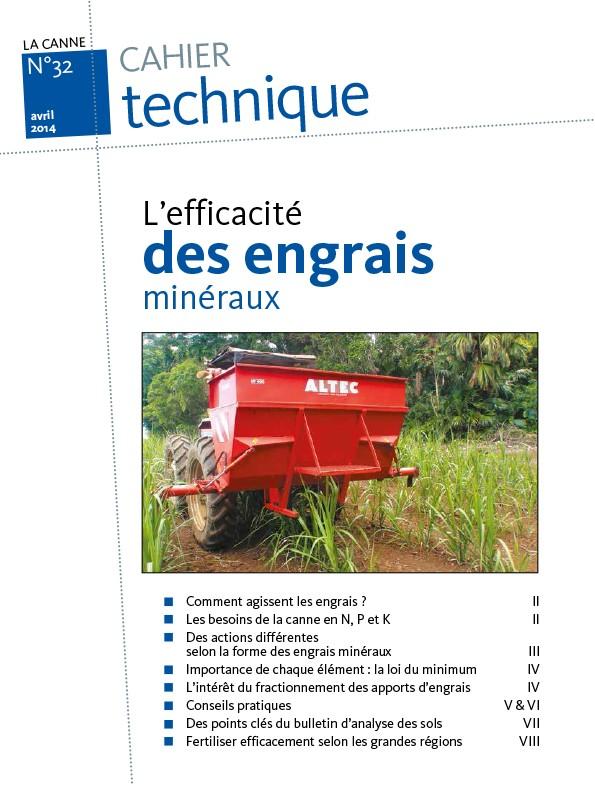 Cahier technique N°32 : l'efficacité des engrais minéraux