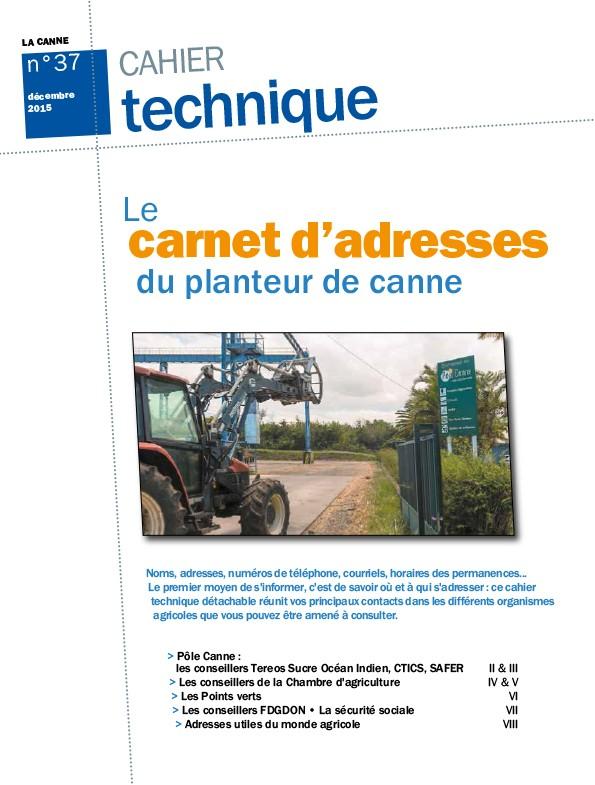 Cahier technique N°37 : le carnet d'adresses du planteur de canne
