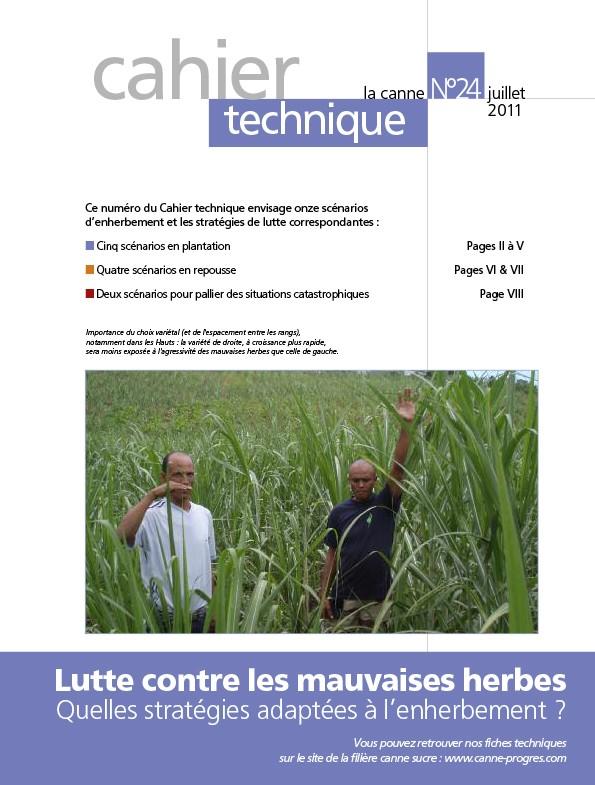 Cahier technique N°24 : Lutte contre les mauvaises herbes, quelles stratégies adaptées à l'enherbement ?