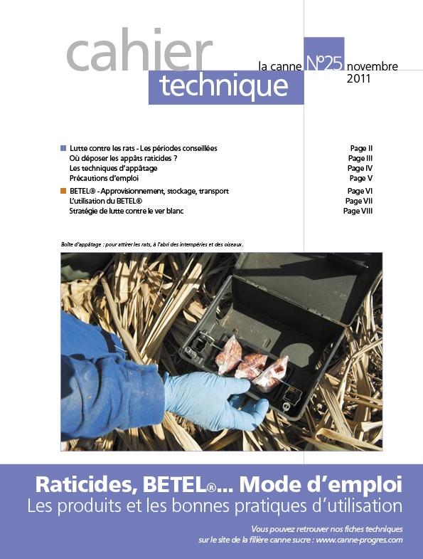 Cahier technique n°25 : Raticides, BETEL®… Mode d'emploi, les produits et les bonnes pratiques d'utilisation