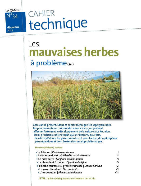 Cahier technique N°34 : Les mauvaises herbes à problème (1/3)