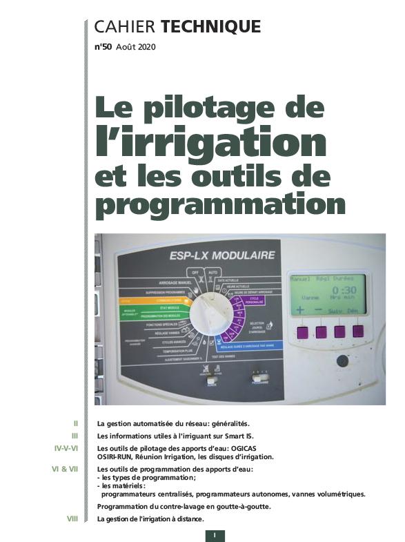 Cahier technique N°50 : le pilotage de l'irrigation et les outils de programmation