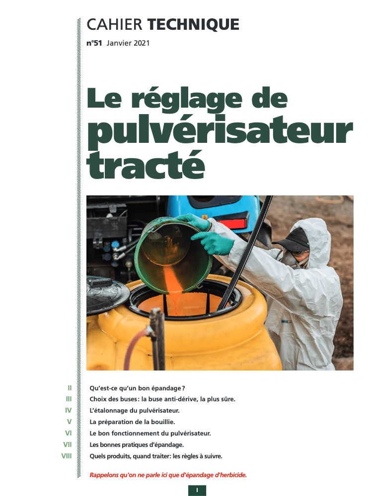 Cahier technique N°51 : le réglage de pulvérisateur tracté